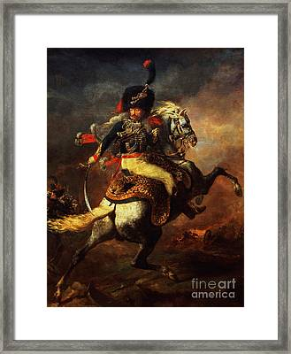 Officer Of The Hussars Framed Print by Theodore Gericault