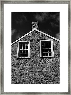 Officers Quarters, Monochrome Framed Print by Travis Burgess