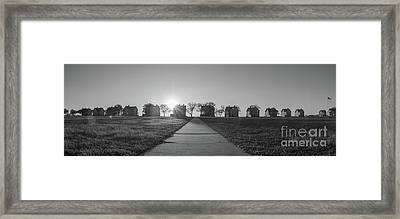 Officers Row Panorama Bw  Framed Print