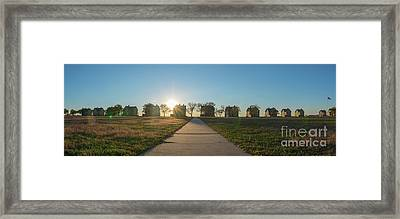 Officers Row Panorama Sunset Framed Print