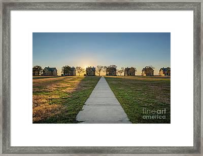 Officers Row Sunset Framed Print