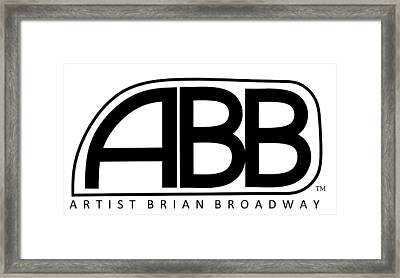Official Abb Logo Inverted Framed Print by Brian Broadway