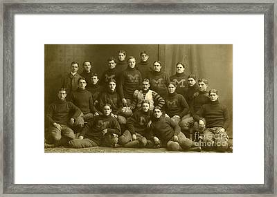 Official Photograph Of 1899 Michigan Wolverines Football Team Framed Print by Celestial Images