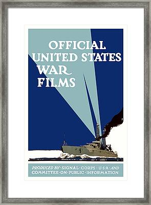 Official United States War Films Framed Print by War Is Hell Store