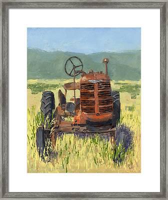 Offset High Crop Framed Print