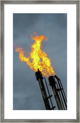 Offshore Flames Framed Print by Britten Adams