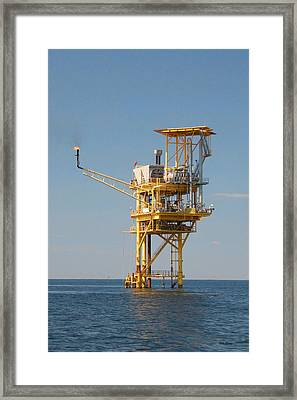 Offshore Gas Platform Framed Print by Bill Perry