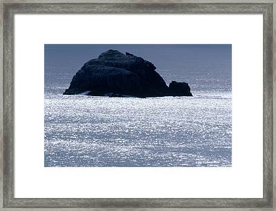 Offshore Rock - Highway One Framed Print