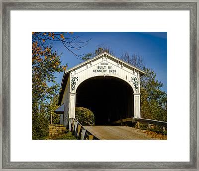 Offutt's Ford Covered Bridge Framed Print