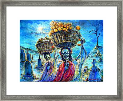 Framed Print featuring the painting Ofrendas by Heather Calderon