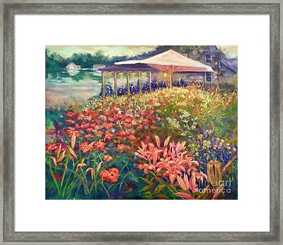 Ogunquit Gardens At Waterside Restaurant Framed Print