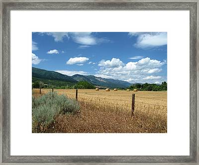 Ogden Valley Hay Bales Photo Framed Print