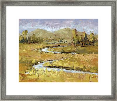 Ogden Valley Marsh Framed Print