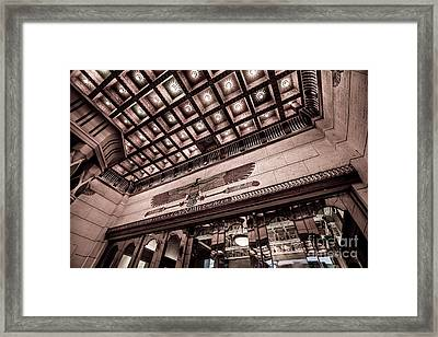 Ogden's Historic Peery's Egyptian Theater At Night  Framed Print