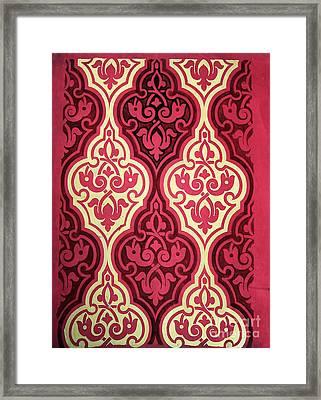 Ogee In Red Framed Print