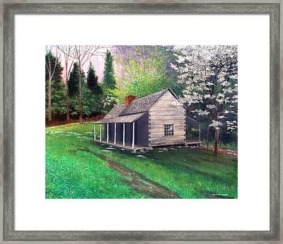 Ogle Homestead Gatlinburg Tn Framed Print by Herb Dickinson
