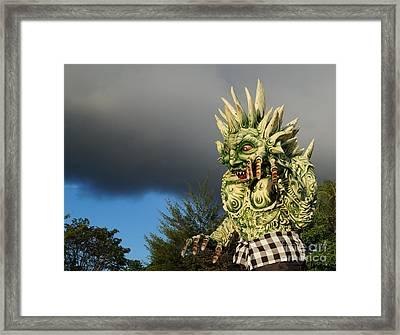 Ogoh-ogoh Festival Bali Monster Framed Print by Timea Mazug