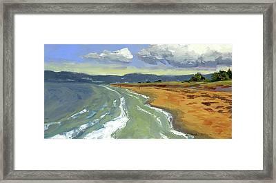 Ogunquit Beach, Tide Rising Framed Print
