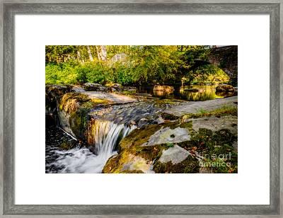 Ogwen Bank Waterfall  Framed Print by Adrian Evans
