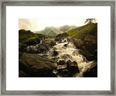 Ogwen Falls Framed Print