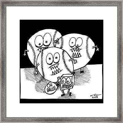 Oh Balls Framed Print by Karl Addison