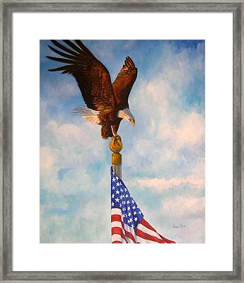 Oh Beautiful Framed Print by Valerie Aune
