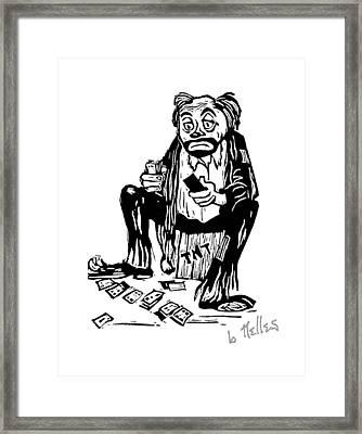 Oh Blast Framed Print by Barry Nelles Art