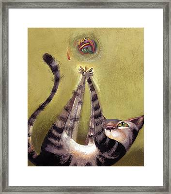 Oh Boy Framed Print by Barbara Hranilovich