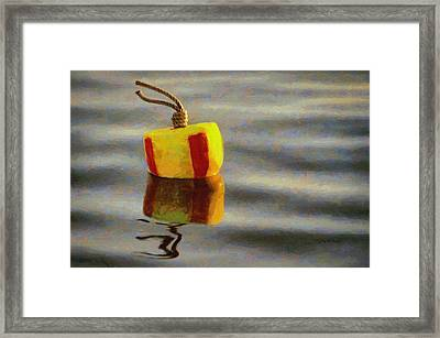 Framed Print featuring the painting Oh Buoy by Jeff Kolker