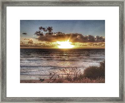 Oh But The Sea  Framed Print by Regina Avila