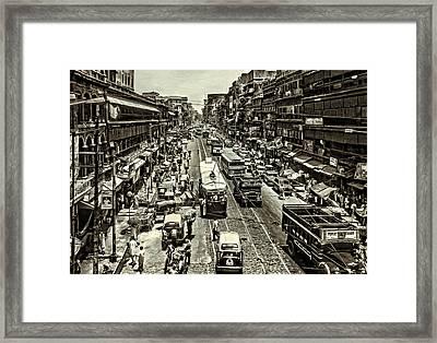 Oh Calcutta 2 Bw Framed Print