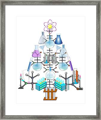 Oh Chemist Tree - Oh Christmas Tree  Framed Print