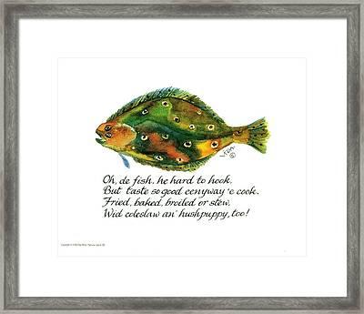 Oh De Fish Framed Print
