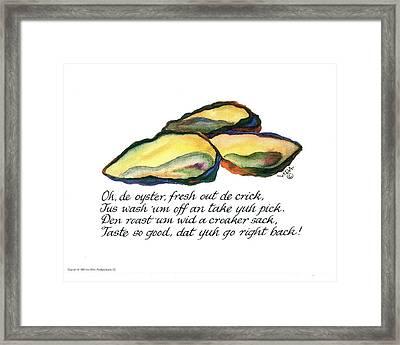 Oh De Oyster Framed Print