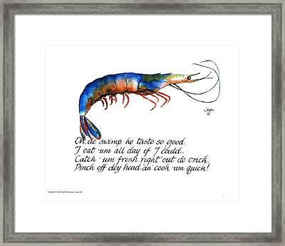 Oh De Swimp Framed Print