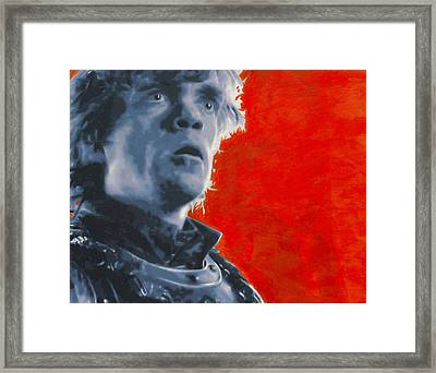 Framed Print featuring the painting Tyrion Lannister by Luis Ludzska