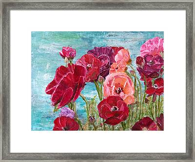 Oh, Giant Tecolote Ranunculus Framed Print by Darla Nyren