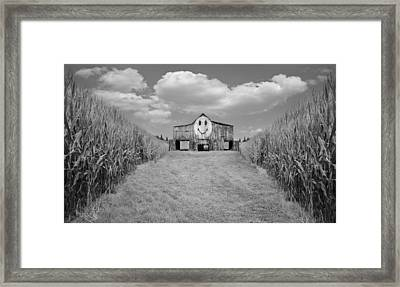 Oh Happy Day Black And White Framed Print