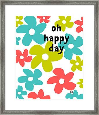 Framed Print featuring the painting Oh Happy Day by Lisa Weedn
