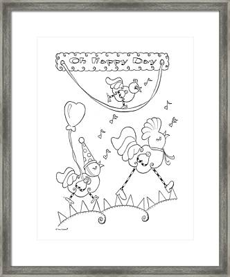 Oh Happy Day Framed Print