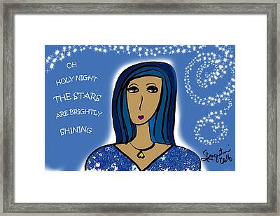 Oh Holy Night Framed Print by Sharon Augustin
