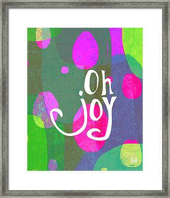 Framed Print featuring the painting Oh Joy by Lisa Weedn