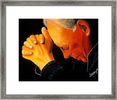 Oh Lord Hear Our Prayer Framed Print by JoeRay Kelley