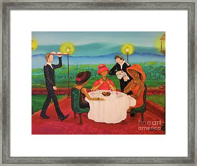 Framed Print featuring the painting Oh My by Barbara Hayes