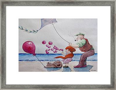 Framed Print featuring the painting Oh My Bubbles by Geni Gorani