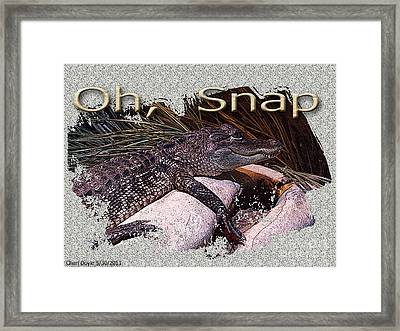 Oh Snap Framed Print by Cheri Doyle