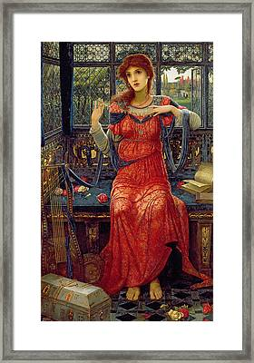 Oh Swallow Swallow Framed Print by John Melhuish Strudwick