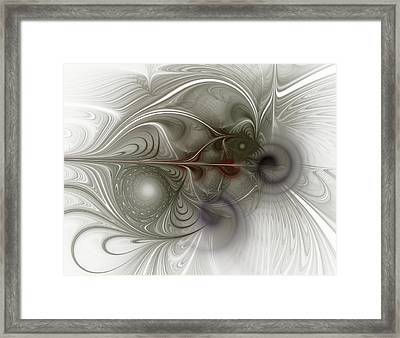 Framed Print featuring the digital art Oh That I Had Wings - Fractal Art by NirvanaBlues