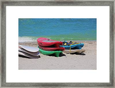 Framed Print featuring the photograph Oh The Beach Life by Michiale Schneider