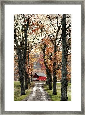 Oh Those Country Roads Framed Print